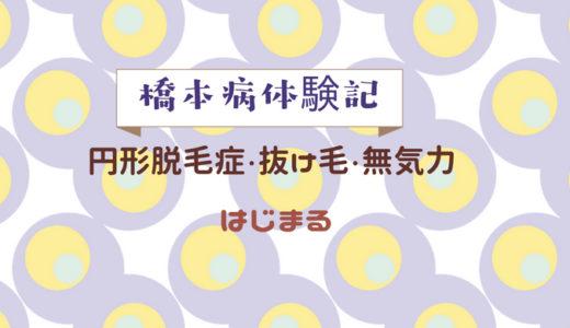 橋本病体験記2 ~円形脱毛症・抜け毛・無気力始まる~