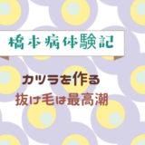 橋本病体験記 かつら 抜け毛