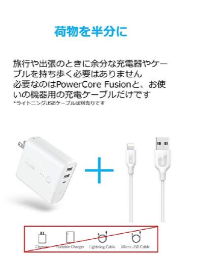 Anker モバイルバッテリー 充電ケーブルのみ